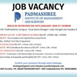 Job Opportunities at Padmashree Institute of Management and Sciences