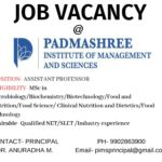 Job Opportunity at Padmashree Institute of Management and Sciences